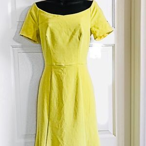 Black Halo Luxury Yellow Dress Size 4